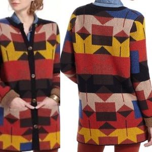 Anthropologie sparrow lonestar Navajo Cardigan